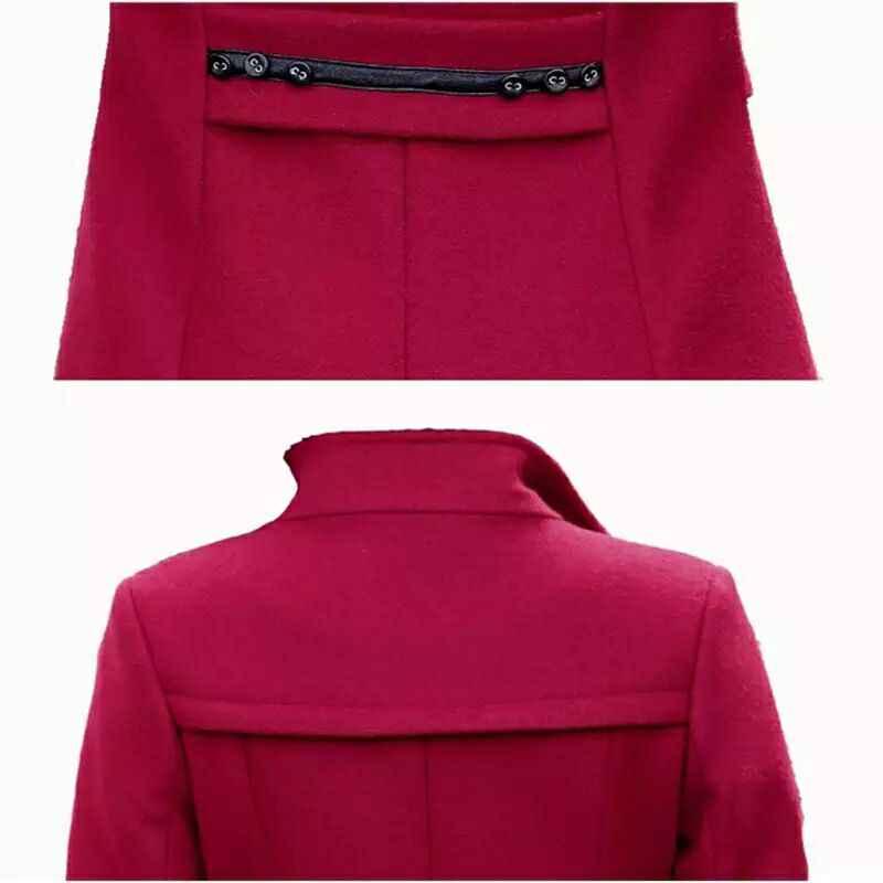 2019 frauen Blends Woolens Mantel Weiblichen Mantel Herbst Winter Mäntel Jacken Frauen Plus größe Mantel frauen Wolle Mäntel Lange tops