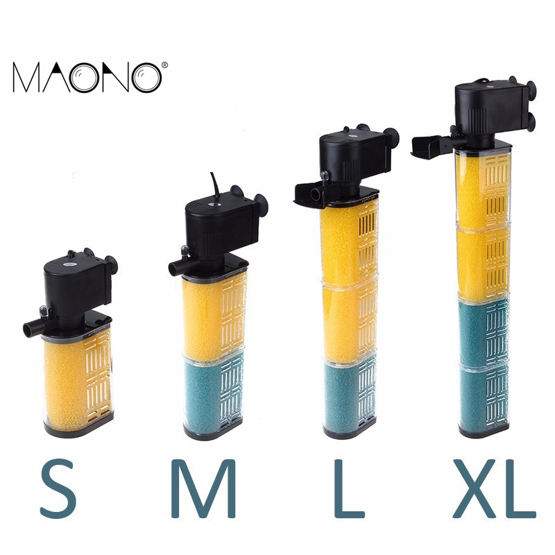 Maono mini fish tank filter biological pump low water for Outdoor fish tank filter