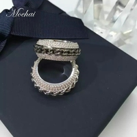 Fashion Rotatable Jesus Church Chain Rings Party Micro Pave Setting Cubic Zirconia Luxury Rotating Women Jewelry