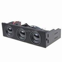 5 25 Stereo Speaker Computer Case Built In Mic Music Loudspeaker PC Front Panel