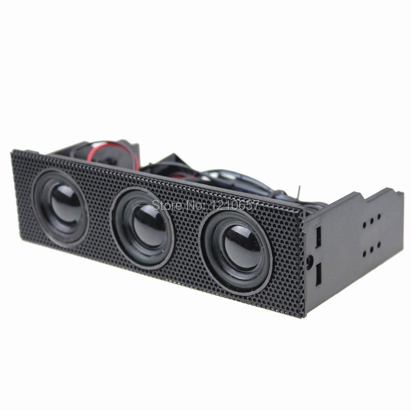 1PCS 5.25 Stereo Speaker Computer Case Built-in Mic Music Loudspeaker PC Front Panel a7190 pc webcam usb built in mic 360° rotating computer camera