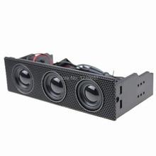 5.25″ Stereo Speaker Computer Case Built-in Mic Music Loudspeaker PC Front Panel