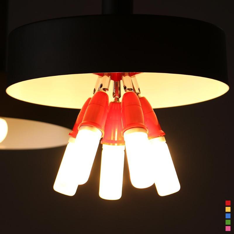 5 em 1 E27 para E27 Cor Ajustável LED Suporte Da Lâmpada Base de Soquete Splitter E27 Suporte Da Lâmpada Da Lâmpada Soquete Splitter adaptador de Base de Luz
