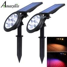 Verbeterde Solar Spotlights Waterdichte Verstelbare 9 LED Wall/Landschap Zonne verlichting Kleurrijke Solar Lamp voor Tuin Gazon Tuin