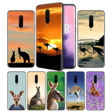 Animal kangaroo Soft Black Silicone Case Cover for OnePlus 6 6T 7 Pro 5G Ultra-thin TPU Phone Back Protective