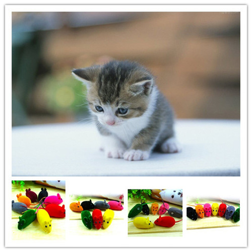 Cute False Mouse Squeak Noise Sound Funny Rat Playing Toy For Cat Kitten Pet Play Funny Multi Color New