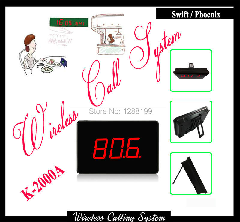 Customer Disply on Service Table for Restaurant Waiter Call System Can Work With Call Button Pager wireless table pager system k 402nr h3 wr for restaurant service with call button and led display dhl shipping free