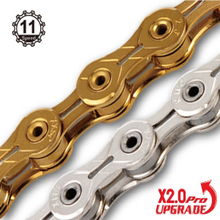 X11SL Super Lumière double X chaîne 11 vitesse vtt vélo de route vélo chaîne titane or argent couleur