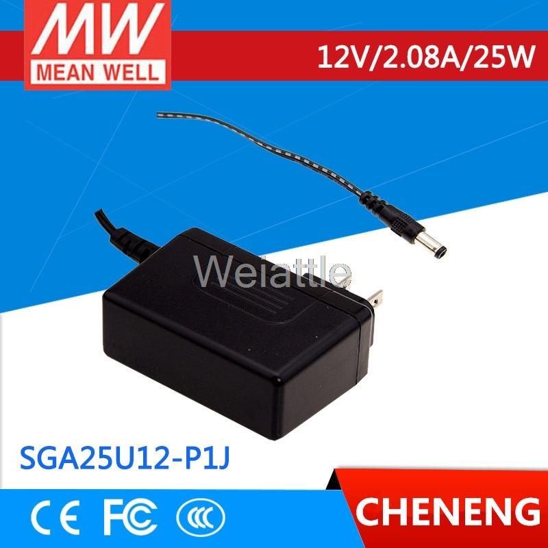 MEAN WELL original SGA25U12-P1J 12V 2.08A meanwell SGA25U 12V 25W AC-DC High Reliability Slim Wall-mounted AdaptorMEAN WELL original SGA25U12-P1J 12V 2.08A meanwell SGA25U 12V 25W AC-DC High Reliability Slim Wall-mounted Adaptor