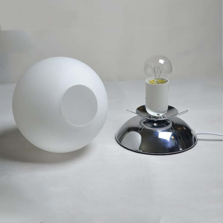 Bedroom Bedside Study Glass Round Table Lamps Convenient Modern Simple  Creative White Single Head LED Table Lights Za In Table Lamps From Lights U0026  Lighting ...