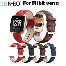For Fitbit Versa Wristband Wrist Strap Smart Watch Band Strap For Fitbit Versa Leather Watchband Replacement Smartwatch Bands недорого