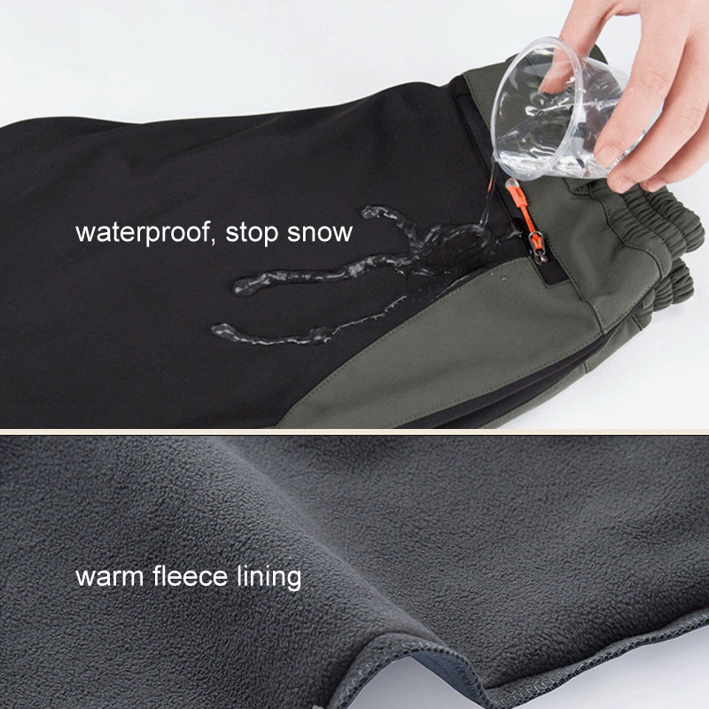 Image 3 - LOMAIYI Cargo Pants Women Winter Warm Pants Womens Trousers  Large Size Sweatpants Woman Fleece Lining Waterproof Pants AW079Pants