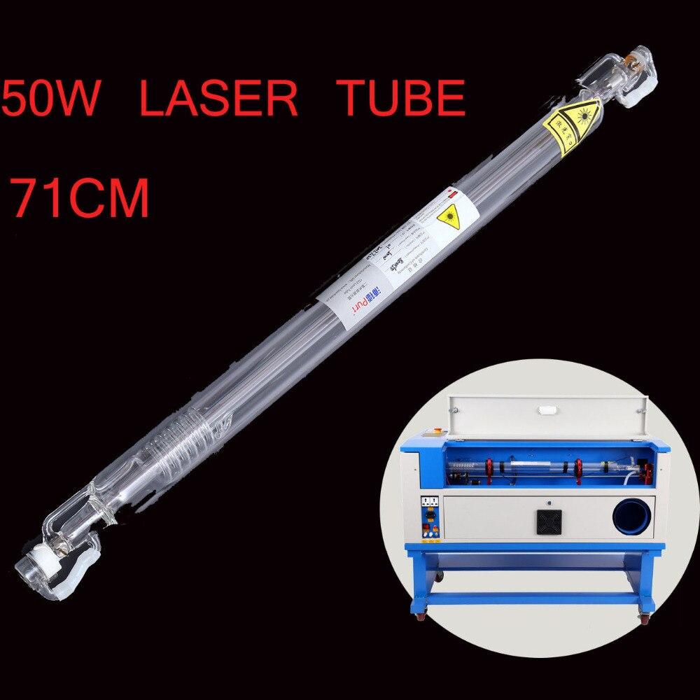 50 W Diamètre 50mm L710MM CO2 Laser Tube Pour Graveur Cutter Machine de L'eau De Refroidissement Laser