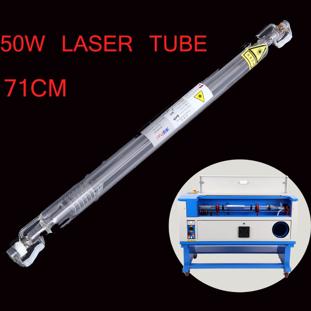 50W Diameter 50mm L710MM CO2 Laser Tube For Engraver Cutter Machine Water Cooling Laser 4040 50w co2 laser engraver with 50w laser tube honeycomb equips to russia free tax