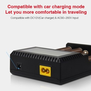 Image 4 - Original Miboxer C4 VC4 LCD Smart Battery Charger for Li ion/IMR/INR/ICR/LiFePO4 18650 14500 26650 AA 3.7 1.2V 1.5V Batteries D4
