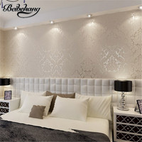 Wallpaper European Vintage Luxury Damask Wall Paper PVC Embossed Textured Wallpaper Rolls Home Decoration Gold Silver