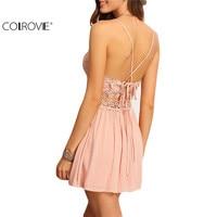 2016 Sexy New Arrival Hot Sale Summer Women A Line Clothes Fashion Sleeveless Crisscross Back Hollow
