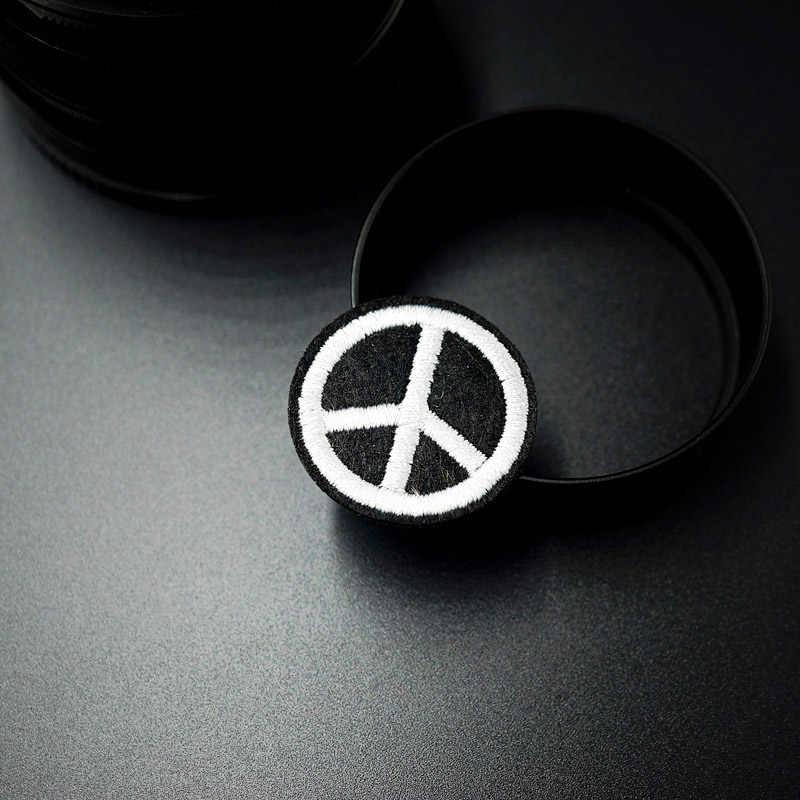 עולם שלום סימן (גודל: 2.9 cm) בד תג לתקן לקשט תיקון ג 'ינס מעילים שקית נעלי בגדי הלבשה תפירת קישוט Applique