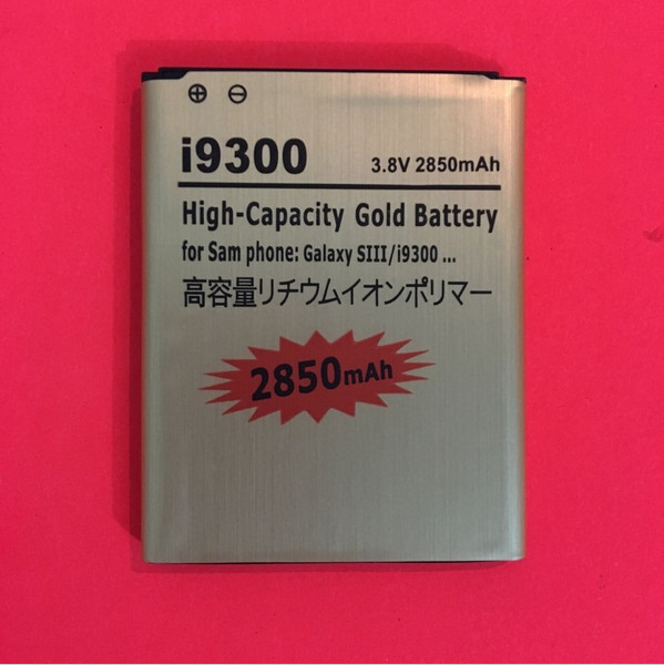 EB-L1G6LLU 2850 mAh High Capacity Gold-Batterie Für Samsung GALAXY S3 SIII S 3 III I9300 i535 i747 T999 L710 I9305 I9308
