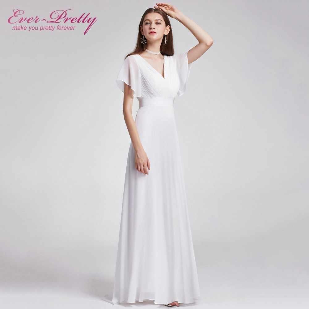 80cac216ec Plus Size Beach Wedding Dress 2019 Short Sleeve Elegant Chiffon Long ...