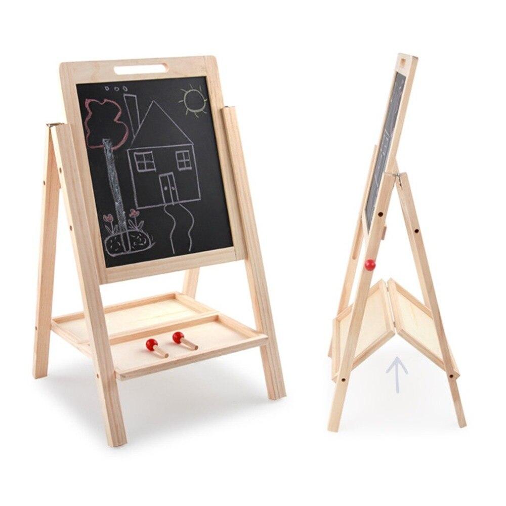 Tableau noir en bois réglable en hauteur Double face planche à dessin enfants apprenant tableau d'écriture Double face - 4