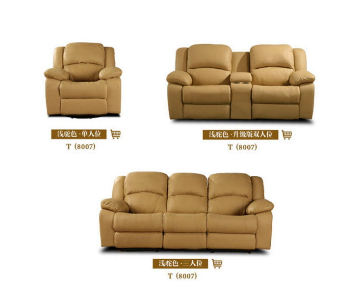 US $1698.6 5% OFF|living room sofa Recliner Sofa, cow Genuine Leather  Recliner Sofa, Cinema Leather Recliner Sofa 1+2+3 seater for home  furniture-in ...