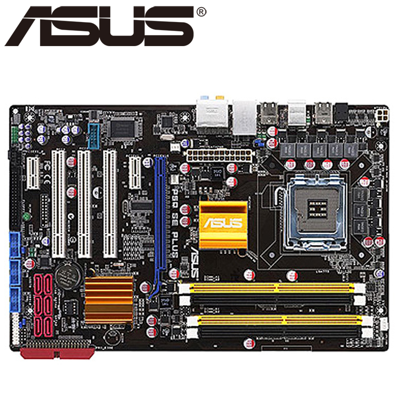 Asus P5Q SE PLUS Desktop Motherboard P45 Socket LGA 775 For Core 2 Duo Quad DDR2 16G  UEFI BIOS Original Used Mainboard On Sale asus p8h61 m le desktop motherboard h61 socket lga 1155 i3 i5 i7 ddr3 16g uatx uefi bios original used mainboard on sale