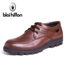 Blaibilton Высокое качество 100% натуральная кожа роскошные оксфорды Мужская обувь платье модные деловые повседневные мужские туфли дизайнерские SD4166