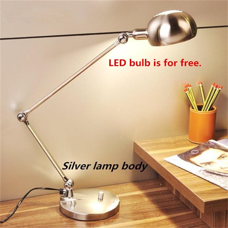 Office Stand Table Lamp Adjustable Book Night Light Foldable Abajur Luminaria de Mesa Reading Tafellamp Flexible