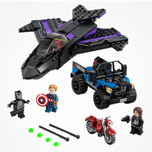 Decool 7122 Avengers Infinity War Black Panther Plane Building Blocks Compatible LegoINGs Marvel Avengers Endgame Figures 76047