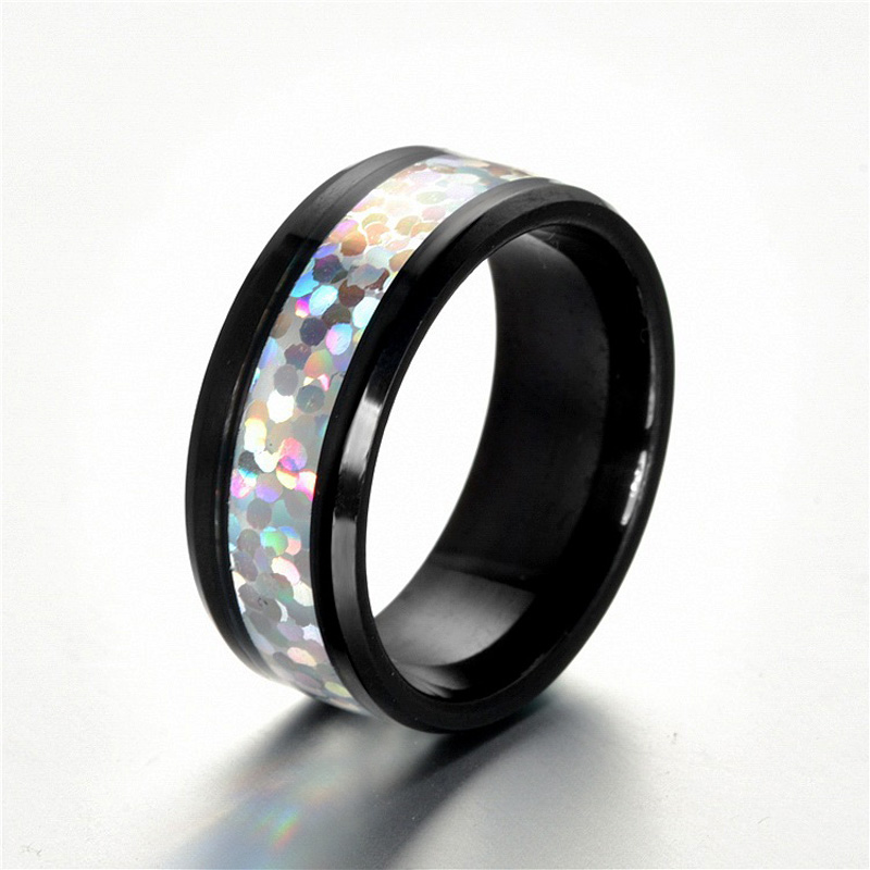 KobitAce нержавеющая сталь кольца для Для женщин Rainbow patch Обручение кольца для Для женщин Для мужчин украшения кольца обещание для пар