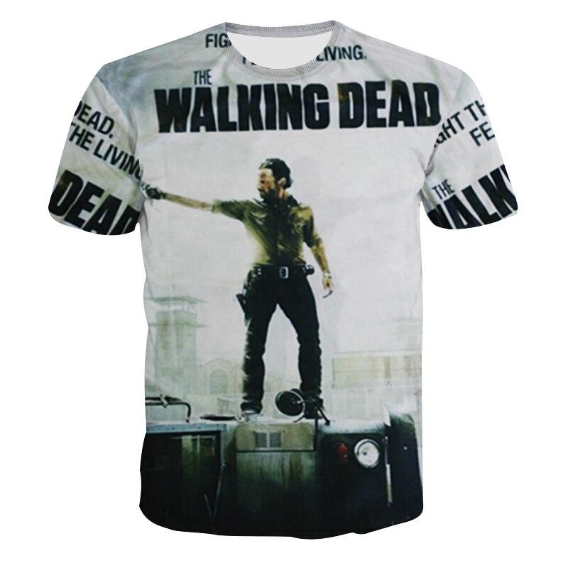 Herren 3D T-Shirt The Walking Dead Lustiges T-Shirt Top Herren - Herrenbekleidung - Foto 2