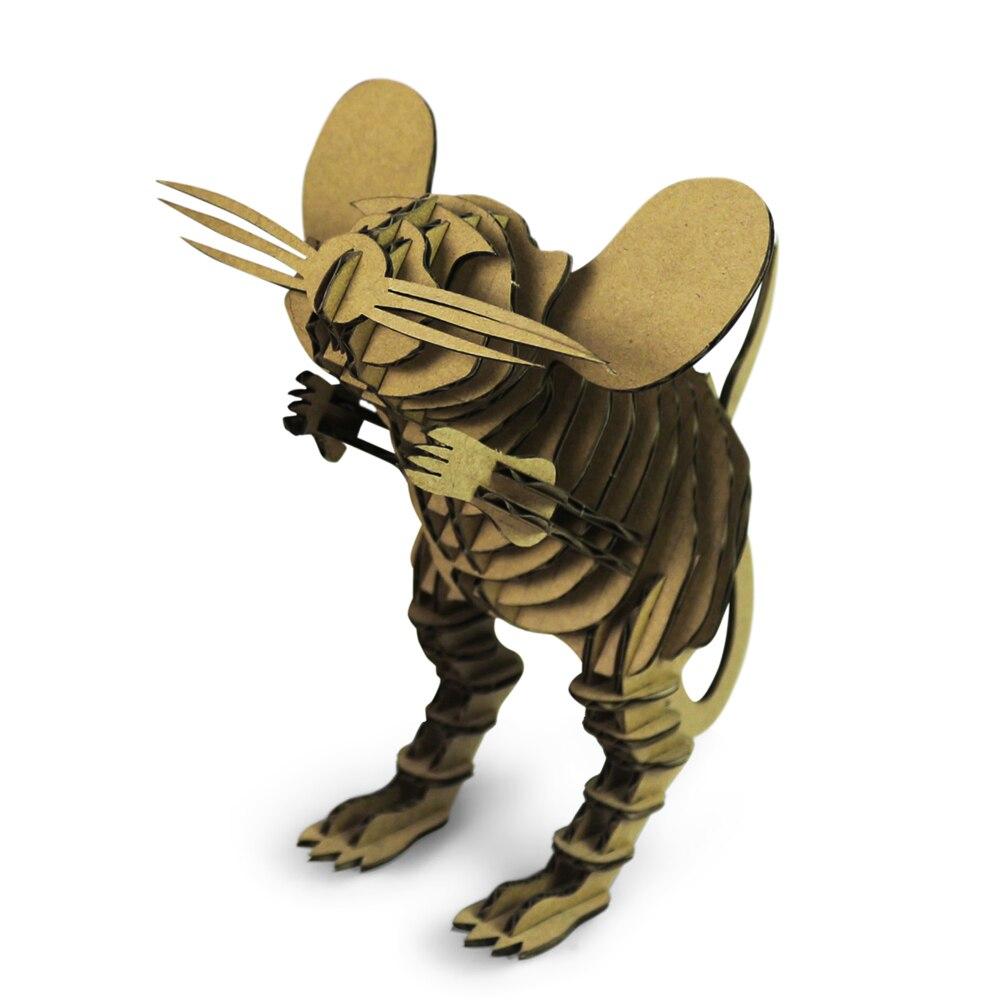 3D Puzzle Mouse Paper Craft Model Rat Animal DIY