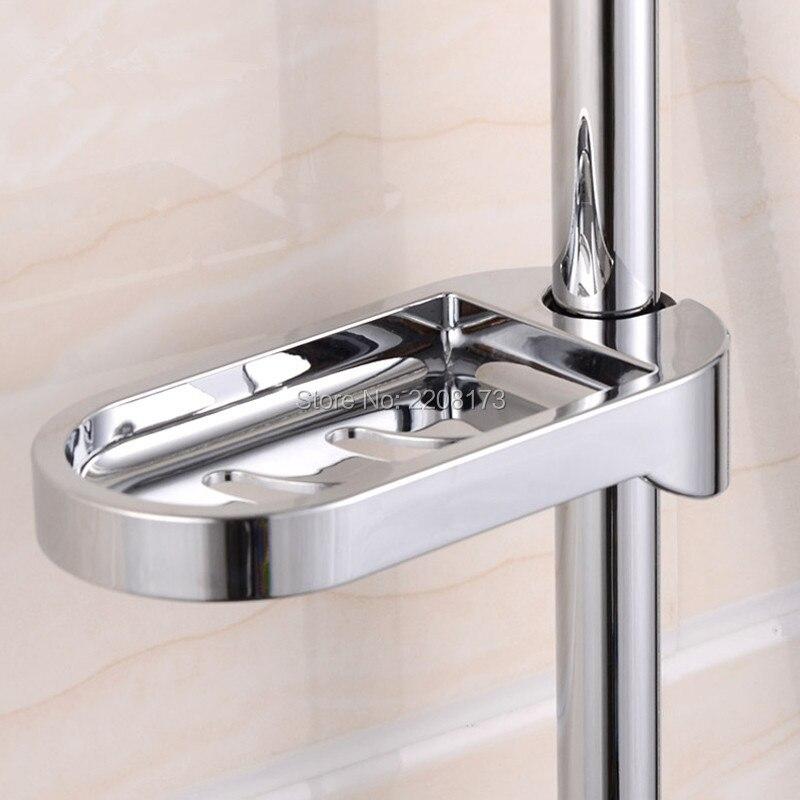 New Arrival 24mm Plastic Shower Rail Soap Dish Box Soap Holder Soap Pallet  Shower Rod Slide
