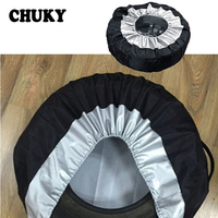 CHUKY 1X Car Spare tire covers Dustproof and Rainproof For Skoda Octavia a7 a5 Rapid Superb Acura subaru Toyota RAV4 Avensis BMW