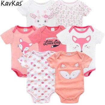 Бренд vetement bebe Лето 2019 7 шт./партия детская одежда для девочек roupas de bebe recien nacido ropa 3 6 9 12 месяцев Одежда для новорожденных