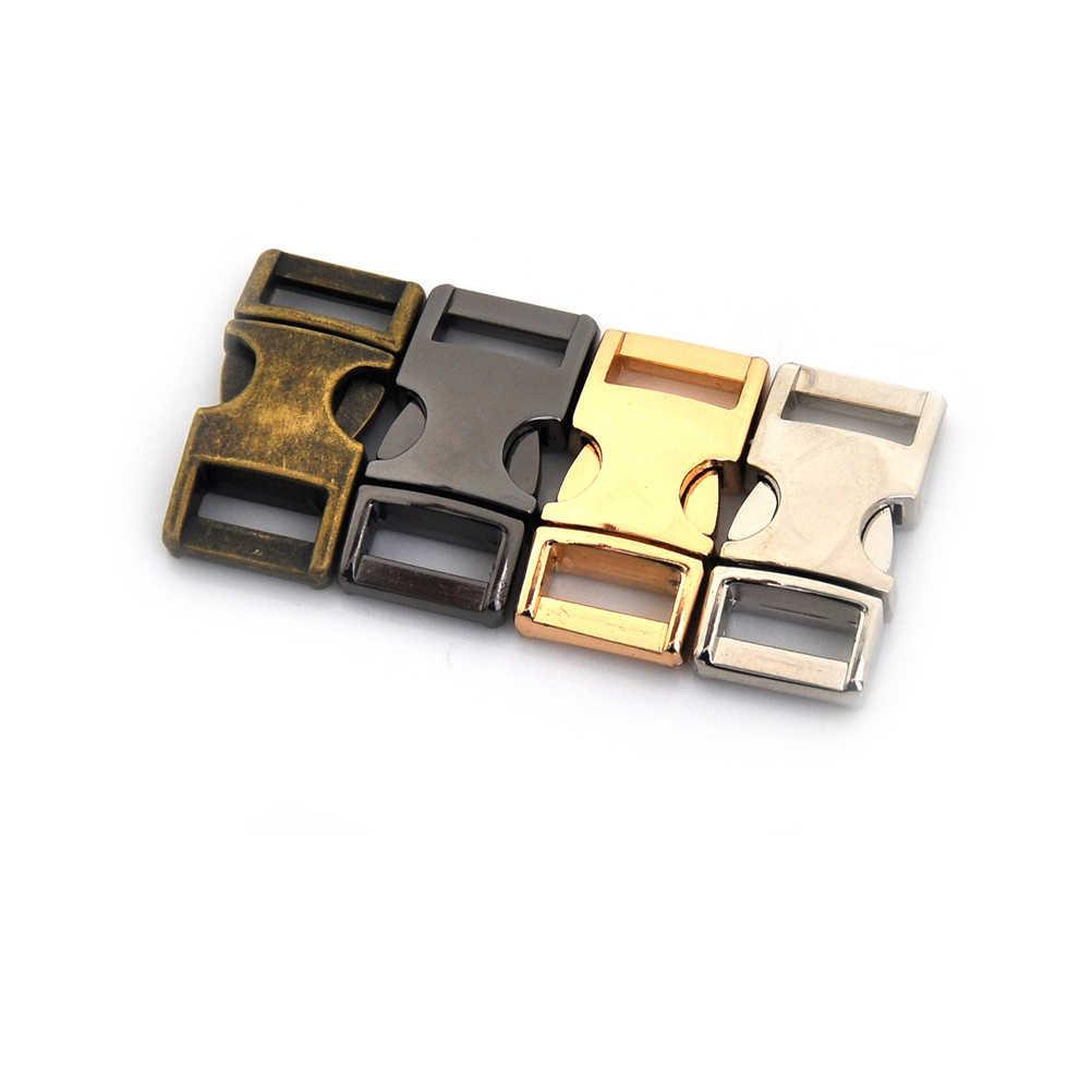 4 צבעים ארנק מזוודות כלב צווארון חגורה חגורת קליפ אבזם שחרור מהיר DIY מתכת תיק תרמיל רצועת אבזם 1 PC