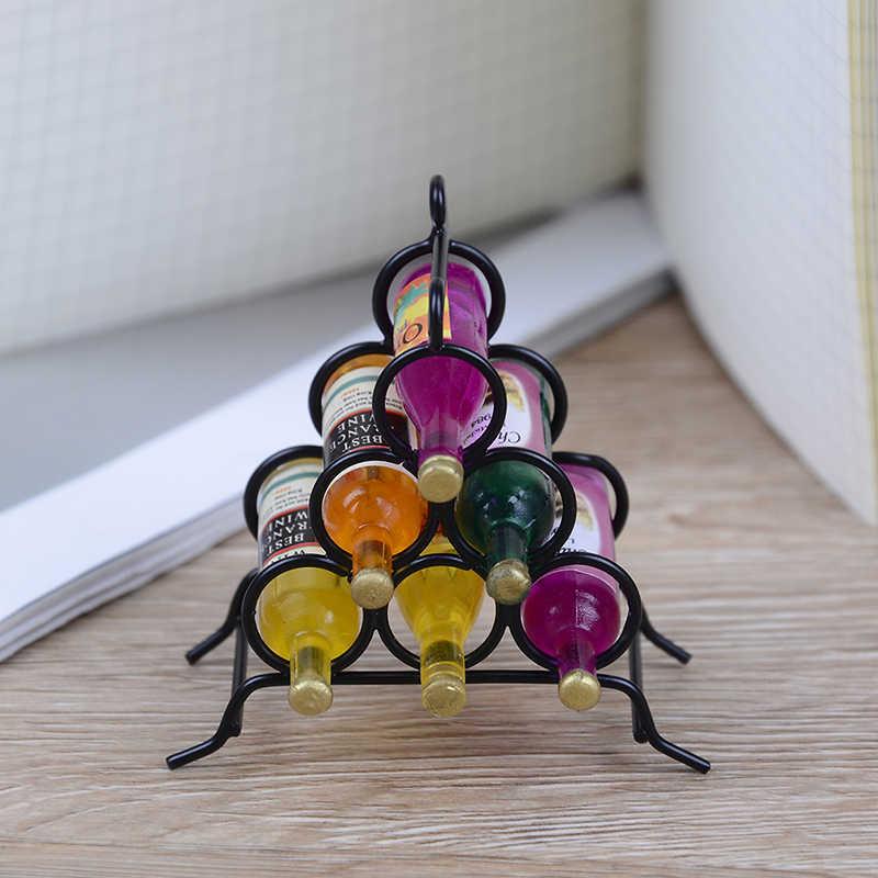 7 шт./компл. мини мебель модель миниатюрный Мини DIY кухня номер черный + бутылка вина для миниатюрные куклы дом 1:12 Кукольный дом