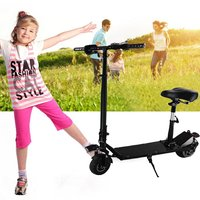Cool 350W 8 inch Electric Scooter Adjustable Height LED Headlight Folding Travel Tools Adults Kids Toys for Gift dropshipping