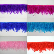50cm/lot Diy feather turkey hair torn fire piece cloth stage performance clothing accessories AC059