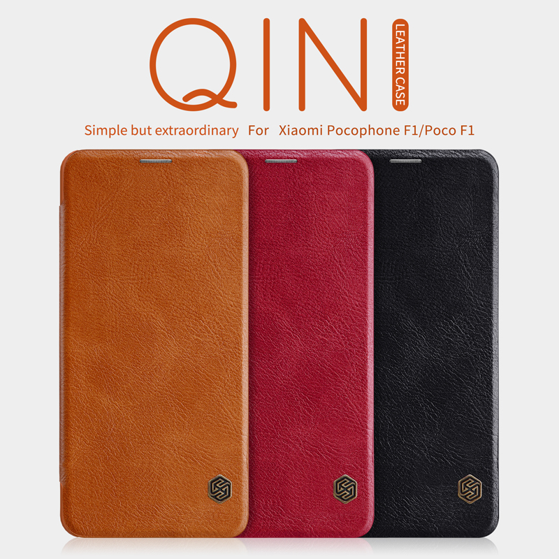 case for xiaomi Pocophone F1 NILLKIN vintage Qin Series smart wake up Case For Xiaomi Poco F1 cover Wallet Flip Leather Case