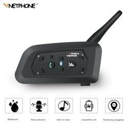 VNETPHONE V6 Intercom 850mAh Helmet Bluetooth Headset Motorcycle Comunicador Headphone Speaker for 6 Riders IP65 MP3 GPS