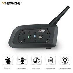 VNETPHONE V6 Intercom Helmet Bluetooth Headset Motorcycle Comunicador Capacete Headphone Speaker for 6 Riders IP65 MP3 GPS