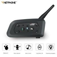 VNETPHONE V6 Intercom intercomunicador moto Helmet Bluetooth Headset for 6 Riders Motorcycle Communication Interphone MP3 GPS
