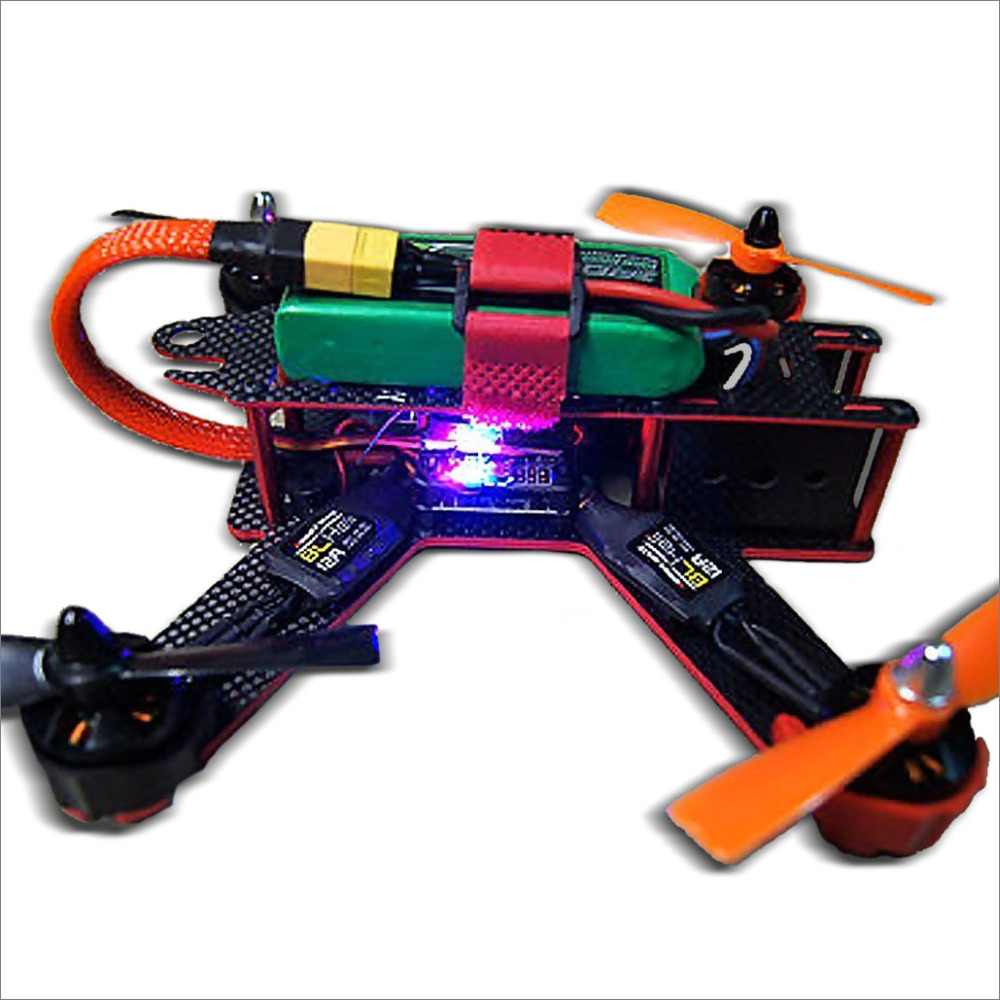 Carbon Fiber QAV210 FPV 4 Axis Quadcopter Kit W/ Hobbymate 2204 Motor, Upgrade BLHeli 15A ESC's,Props, Motor Protector