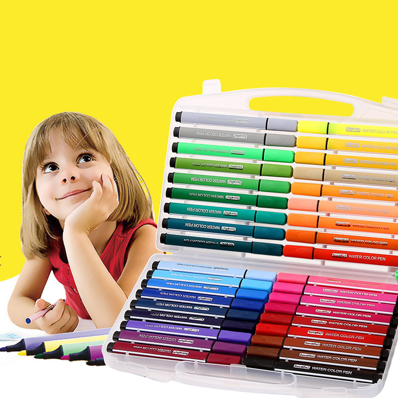 Children Drawing 12/18/24/36 Colors Non-toxic Washable Watercolor Marker Pen For Kids Painting Art Supplies Safe Non-toxic цена