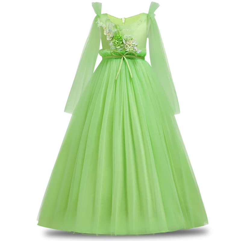 2019 Girls Pageant Dress First Communion Dresses Party Gown New Arrival Princess Sleeves Pink Lace Flower Girl Dresses Vestidos