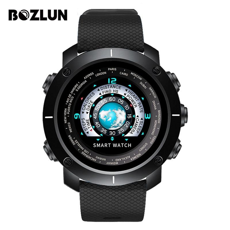 Bozlun 2018 nouvelle montre numérique intelligente homme cœur Calories caméra à distance étanche montre-bracelet montre de mode Relogio Masculino