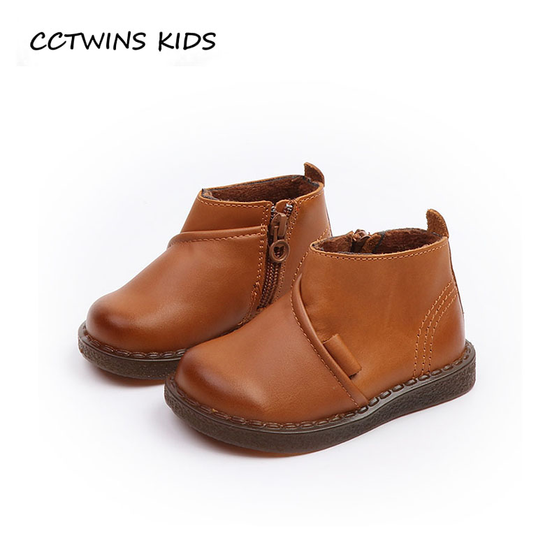 CCTWINS KIDS 2018 Winter Children Genuine Leather Shoe Baby Boy Brand Black Boot Girl Fashion Ankle Boot Toddler CF1548 cctwins kids 2018 autumn baby boy fashion black boot children genuine leather shoe girl brand ankle boot toddler cf1505