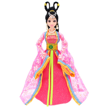 цена на 12 Moveable Joints Doll Toys Female Action Figure Body Dolls With Clothes&Jewelry Chinese Type Princess Doll Gifts Toy For Girls